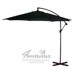 Висящ чадър с алуминиева стойка, 2.94 м диаметър