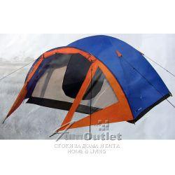 """Триместна двуслойна палатка за къмпинг, тип """"Куполен"""""""