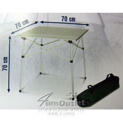 Сгъваема (навиваща се) алуминиева маса за къмпинг