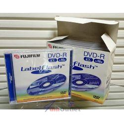 DVD-R FUJI 4.7GB 16x LabelFlash DVD диск (носител) за лазерно гравиране