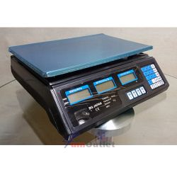 ACS Търговски електронен кантар (везна) с иноксова платформа, до 40 кг.