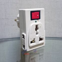 Преходник (адаптер) към шуко, токов, UK/US комбиниран