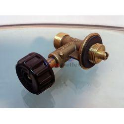 Спирателен кран (вентил) за газова бутилка, голяма периферия