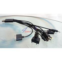 USB кабел (преходник) с 10 накрайника (стандарти)