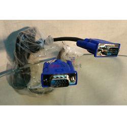 OEM Кабел за монитор VGA, 1.5м, с феритни пръстени