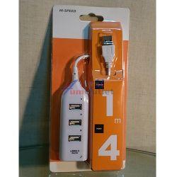4 Ports USB2.0 Hub Концентратор (хъб) за USB устройства