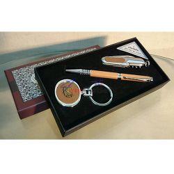 ALADDIN Комплект за подарък - химикалка, джобно ножче и ключодържател
