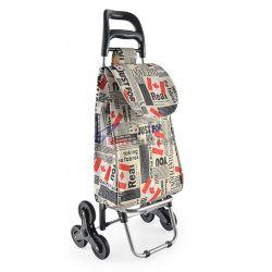 Чанта на колела за пазаруване (пазарска чанта), за стълби