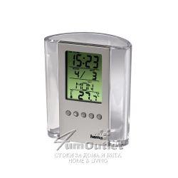 Настолен LCD часовник с моливник