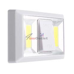 Лампа-ключ COB LED, двойна, подвижна, с магнит